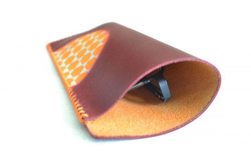 革 眼鏡ケース 籠目 イメージ